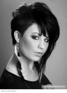 Asymmetrical Punk Medium Hair Style