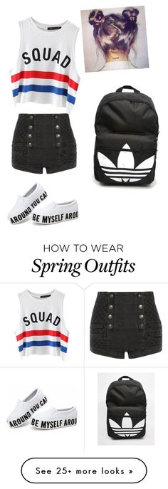 """My First Polyvore Outfit"" by mbali2029 on Polyvore featuring Pierre Balmain, Chicnova Fashion and adidas"