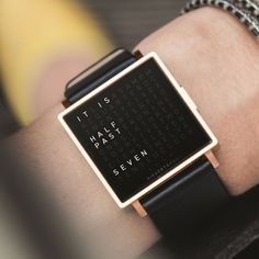 ccac11f75 QLOCKTWO W brings the ingenious concept of telling the time with words to  your wrist.