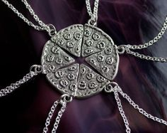 Pizza Friendship Necklace - Best Friends Jewelry
