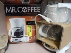 COFFEE MAKER, MR.COFFEE,5 CUP SWITCH. NEW IN BOX