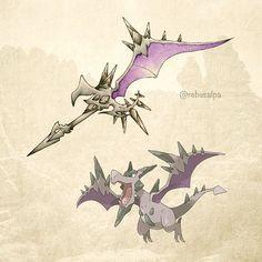 Pokeapon No. 142 - Mega Aerodactyl. #pokemon #megaaerodactyl #aerodactyl #bladerang #pokeapon