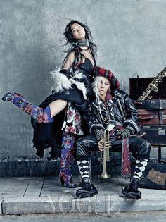 G-Dragon (and Kim Sung-hee) // Vogue Korea // August 2013