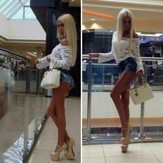 barbiebimboslut:  PERF outfit for the mall! *giggle*