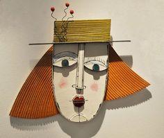 Billedresultat for anastasaki ceramics Cardboard Sculpture, Cardboard Crafts, Paper Crafts, Wall Sculptures, Sculpture Art, Ceramic Mask, Atelier D Art, Art Graphique, Art Plastique