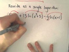 Logarithms : Expanding and Combining , Example 3 Log Rules, Math Formulas, Arithmetic, Algebra, How To Apply, Thankful, Writing, Education, Videos