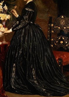 "cybertronian: "" INCREDIBLE DRESSES IN ART (1/∞) Mrs. James Guthrie by Frederic Leighton, 1865 """