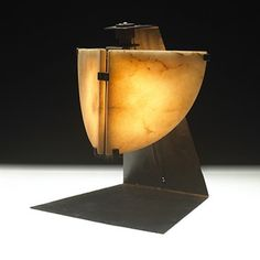 Pierre Chareau, #LP180 Table Lamp, 1923.