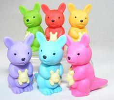 "Iwako Kangaroo Eraser in 6 new colors by IWAKO. $6.74. Japanese Iwako Erasers. 6 Kangaroo puzzle erasers 1 1/2"" tall, 3/4"" wide, 1"" thick"