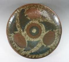 島岡達三 Tatsuzo Shimaoka『象嵌飾皿』