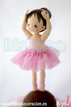 tarta decorada bailarina by Dulce decoración (modelado - tartas decoradas), via Flickr