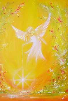 """Limited angel art poster """"I give you light"""", modern contemporary angel painting, artwork, print, glossy photo,"""