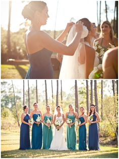 Mismatched bridesmaid inspiration - smitten magazine.