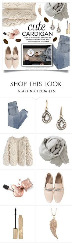 """""""Cute Cardigan"""" by linmari ❤ liked on Polyvore featuring Mix Nouveau, Azaara, Chicwish, Brunello Cucinelli, Stila and Sydney Evan"""