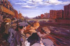 A painting by the wonderful Jack B Yeats (1871-1957) of The Famous Liffey Swim.