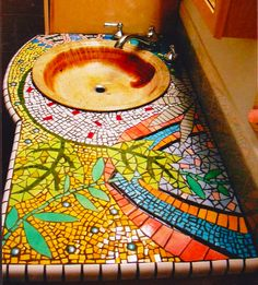 mosaic storage ideas | Easy Homestead: Mosaic Sink