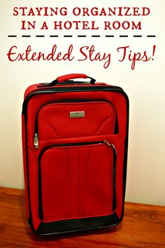 Staying Organized in a hotel room! Tips for when you have an extended stay. #ad