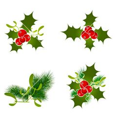Christmas elements vector - by SRNR on VectorStock®