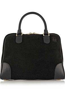 Loewe Amazona 75 large suede and leather tote | NET-A-PORTER