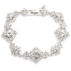 Givenchy Crystal Flex Bracelet ($78) ❤ liked on Polyvore featuring jewelry, bracelets, rhodium, crystal stone jewelry, crystal jewellery, crystal jewelry, givenchy and givenchy jewelry