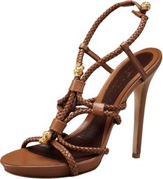 Braided High Heel Sandal - Lyst