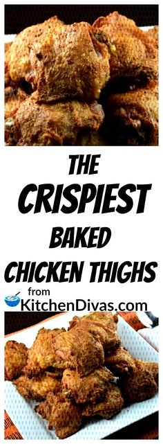 #crispiest #chicken #thighs #these #baked #enjoy #prepa #will #ever #easy #are #the #you #to These a... Crispy Baked Chicken Thighs, Chicken Thigh Recipes Oven, Chicken Recipes, Meat, Baking, Food, Bakken, Essen, Meals