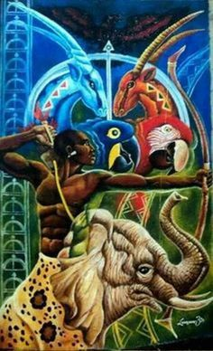 Oshosi, the orisha of archery. He represents the divine faculty of strategy.