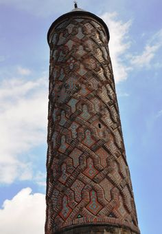 'Yakutiye Madrasa tiled minaret - Turkey • Erzurum Erzurum