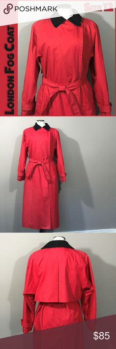"""🐣 Classic London Fog Red Trench Coat I love the classic look and vibrant color of this London Fog trench coat. It is in EUC and will be a beautiful addition to your wardrobe.  Measurements:  -Armpit-to-armpit: 23"""" -Length: 48.5"""" -Sleeve: 26""""  From a smoke-free and happy-to-bundle closet.   No trades or transactions outside of Poshmark. [T2287] London Fog Jackets & Coats Trench Coats"""