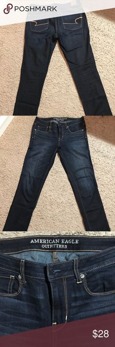 America Eagle Outfitter Skinny Jeans America Eagle Outfitters Skinny Jeans Size 10L. Very stretchy denim in great condition. No flaws. American Eagle Outfitters Jeans Skinny