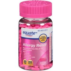 Buy Equate Allergy Relief Tablets, 25mg, 365 count at Walmart.com - - Free Shipping on orders over $35 http://hotdietpills.com/cat3/weight-loss-vacations-australia.html