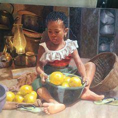 Stunning Paintings by Oresegun Olumide (photos)