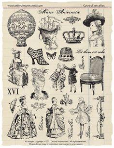 Corte di Versailles timbro collezione Marie di oxfordimpressions