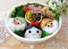 Snow White bento Bento Box Lunch For Kids, Bento Kids, Cute Bento Boxes, Lunch Box, Cute Food, Yummy Food, Kawaii Cooking, Japanese Food Art, Kawaii Bento