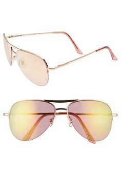 788f9d5655 Steve Madden 60mm Aviator Sunglasses available at  Nordstrom Latest  Sunglasses