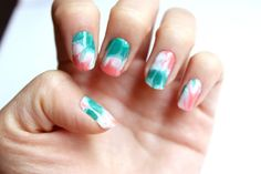 tutorial - dry water marble nails