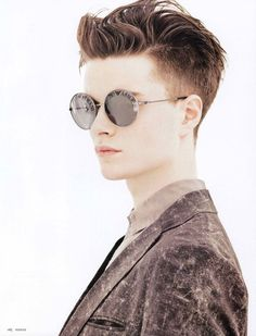 Mens Hair- digging the Armani glasses and the jacket tho