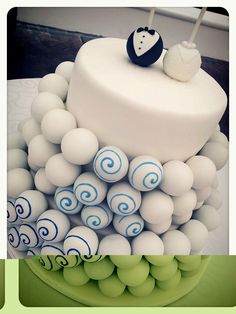 Cake ball wedding cake #cakeball #cake