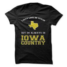 Texas Iowa Country #sport #tshirt