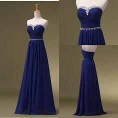 Royal Blue Prom Dresses, Long Bridesmaid Dresses, Long Evening Dresses, Strapless Evening Gowns, Formal Dress, Party Dresses Custom