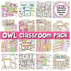 ($) This is FlapJack's most popular product with over 230 positive reviews. Pack includes: * Alphabet A to Z * 6 Binder Covers * Cute Owl Classroom Jobs Display * Birthday Poster * Birthday Owls and Month Headers * Calendar Title, Month Headers, and 31 Date Squares * Grouping Cards * 7 Name Tag Designs for early and upper elementary * 10 Seasonal Mini-Notes - fall, Halloween, Thanksgiving, Christmas, President's Day, Valentine's Day, spring, Easter, and summer * 6 Postcards AND MUCH MORE!!