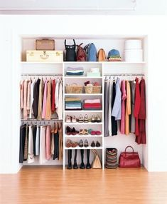How to Maximize Your Closet Space   Ten easy ways to make more room for your wardrobe. #smallroomdesignmaximizespace
