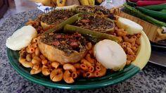 Makrouna bil osben #pâte a la Tunisienne#cuisine Tunisienne#recette de l'aid#sauce tomate#foie#viande d'agneau#cœur de mouton#pois-chiche#blette#persil#riz#coriandre#menthe séchée#les 7 épices#des feuilles de choux#pomme de terre#