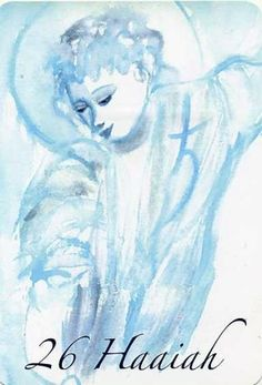 (26) HAAIAH (Kabbalistic angel) 28 July-01 August, provides essence of: Political Science. (ángel Cabalístico) 28 julio-01 agosto , aporta esencia de: Ciencias Políticas. Angel Drawing, Names Of God, Tarot, Spirituality, Portraits, Drawings, Anime, Guardian Angels, Spiritual