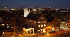 Restored 951 Boylston Street with 320 Newbury Street shown behind. #Boston Photo by Bonica Ayala