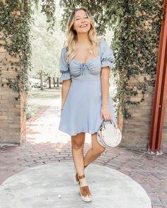 Beautifully Classic Lulu's Blue Summer Dress #lulus #summeroutfit #summerdress #ootd #bluedress #dress #summerstyle #outfitinspiration #styleinspiration