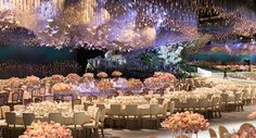 """Dreamy+Wedding+Hall+""""Sky""""+Is+Actually+Thousands+Of+Swarovski+Crystals+and+Paper+Cranes"""