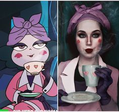 """7,582 curtidas, 60 comentários - Jules Gudkova (@benzoate_ost) no Instagram: """"A cup of tea in this Christmas week ☕ . . . #eclipsathequeenofdarkness #eclipsa #eclipsacosplay…"""""""