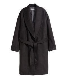 H&M Wool-blend Coat in Black