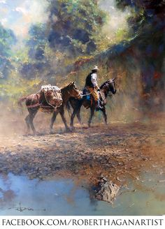 deviantART: More Like 'Tranquil Moment' Oil on Canvas By Robert Hagan by ~robert-hagan